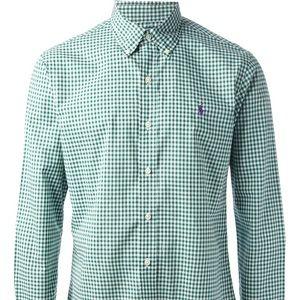 Polo Ralph Lauren Men's Green Gingham Oxford Shirt